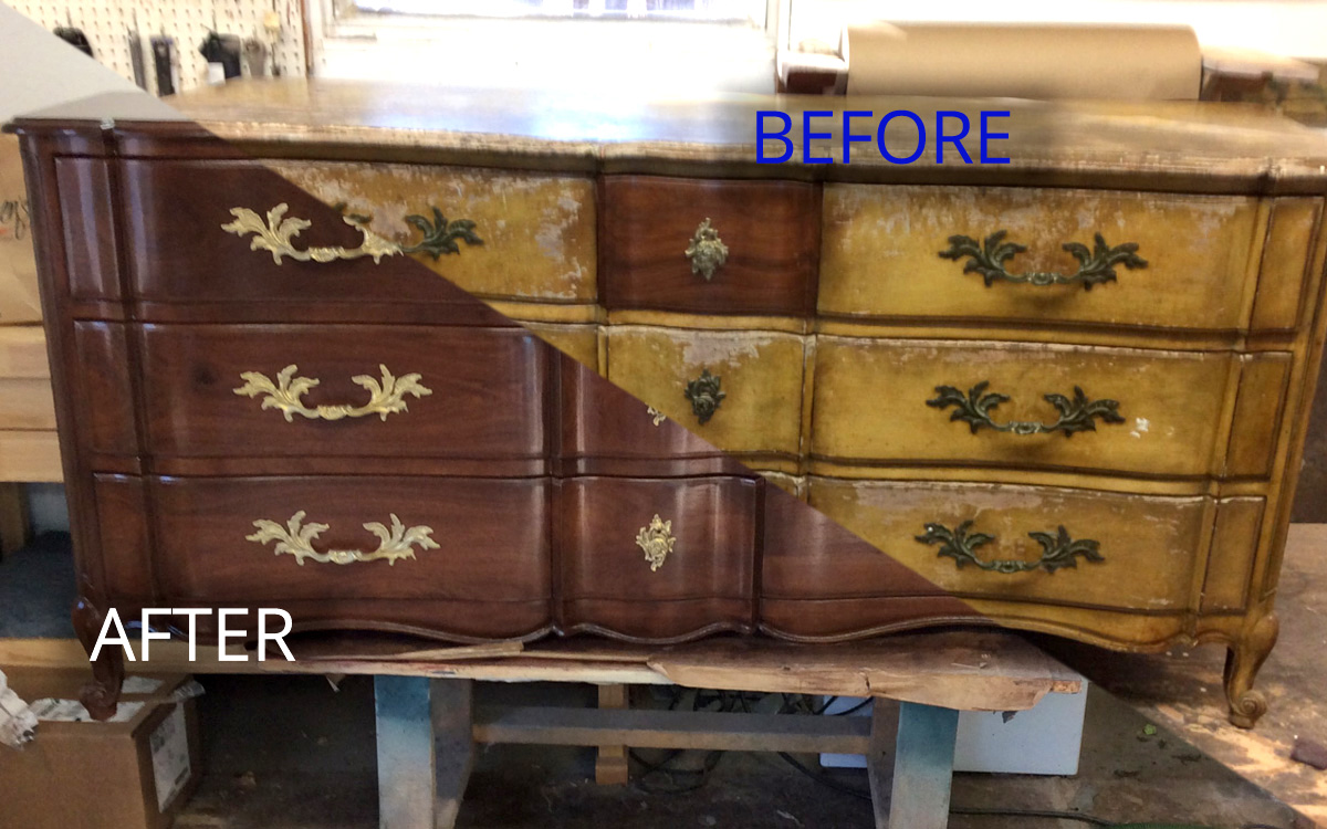 furniture refinishing services from Hudson Valley Furniture